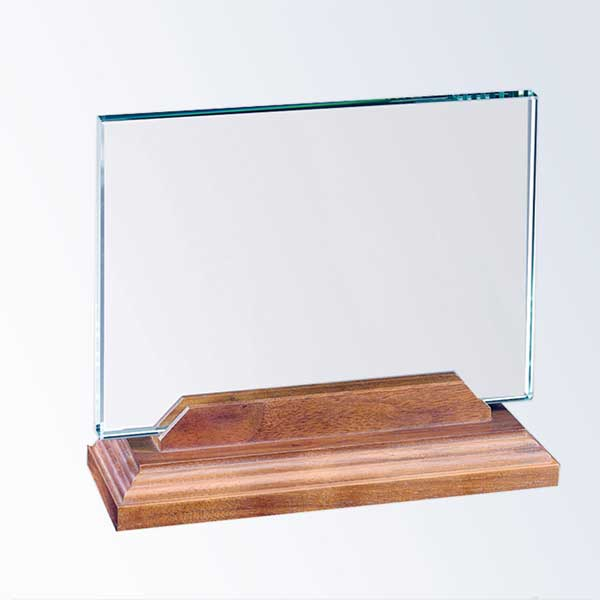glass-rectangle horizontal with walnut base
