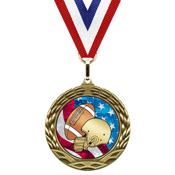 medal-flag mylar series-football