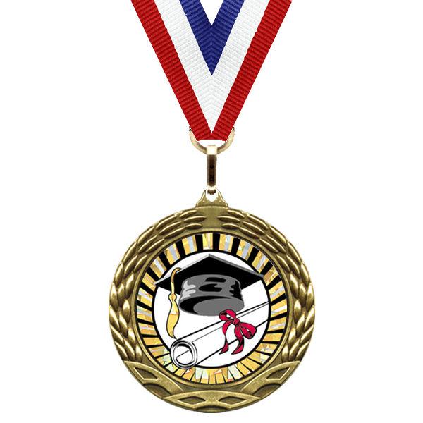 Medal Sunburst Mylar Series Graduation Nettrophy