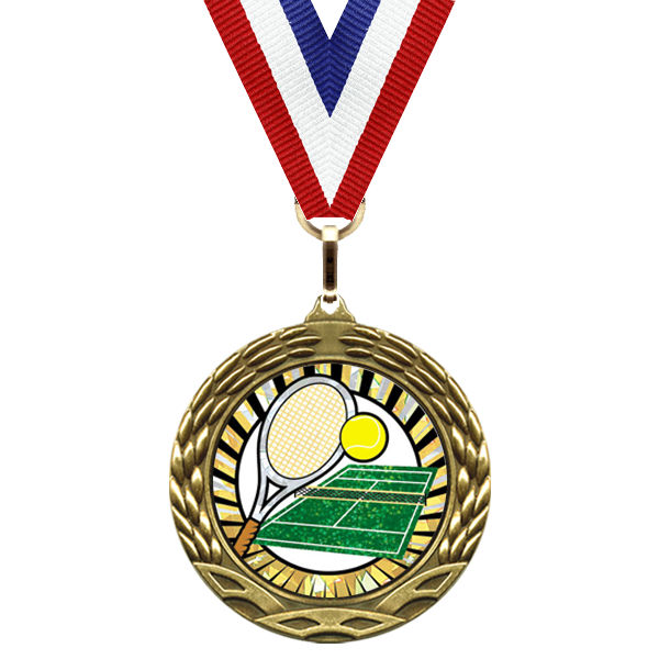 medal-sunburst mylar series-tennis