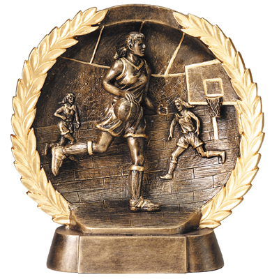 resin-basketball female relief series