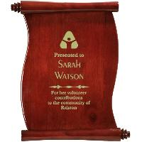 plaque - scroll plaque