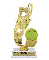 trophy-offset ribbon series-softball