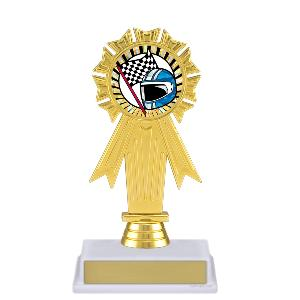 trophy-rosette ribbon-motor sports