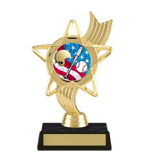 trophy-star ribbon-baseball