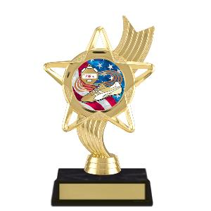trophy-star ribbon-track and field