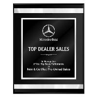 plaque-black chrome acrylic series