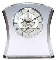 clock-elegant crystal-bowed
