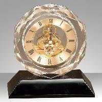 clock-crystal octagon with black base