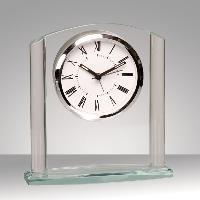 clock-clear arch glass