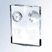 clock-globe diamond plaque