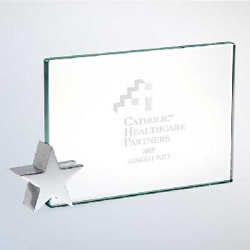 glass-achievement with chrome star holder