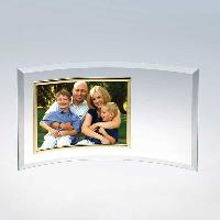 glass-curved horizontal photo frame