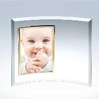 glass-curved vertical photo frame