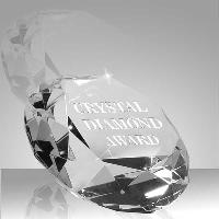 glass-crystal diamond paperweight