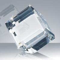 glass-beveled diamond cube
