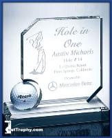 glass-optical crystal hole-in-one award
