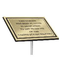 plaque-cast aluminum-gold with stake