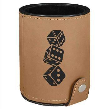 gift-laserable leatherette dice cup