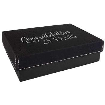 gift-leatherette gift box-black silver