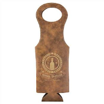 gift-laserable leatherette wine bag