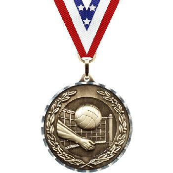 medal-diamond cut series-volleyball