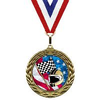 medal-flag mylar series-racing