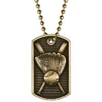 medal-3D dog tag-baseball