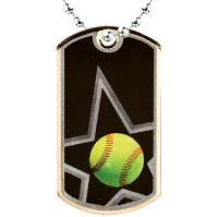 medal-dog tag-softball
