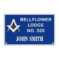 Name Badge - Bellflower Masonic Lodge 320