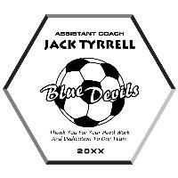 plaque-soccer ball plaque