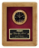 plaque-walnut clock series