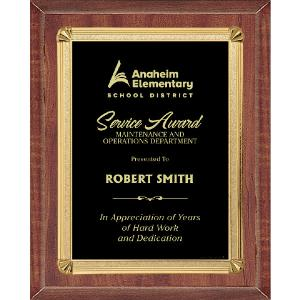plaque-gold frame veneer