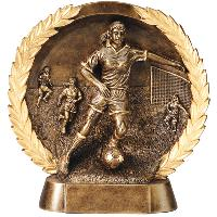resin-soccer female relief series