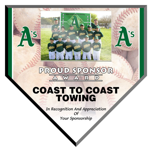Plaque Full Color Home Plate With Photo Nettrophy