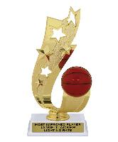 trophy-offset ribbon series-basketball