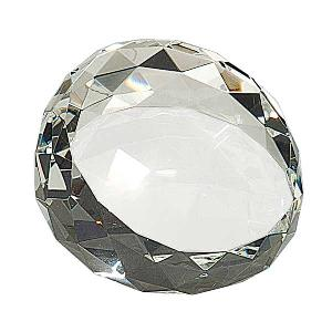 glass-faceted paperweight