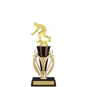 trophy-gold black cup series-bowling