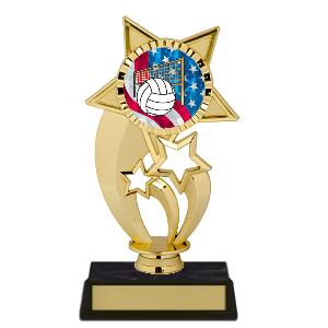 trophy-gold under star-volleyball