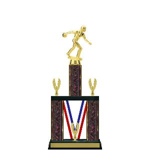 trophy-majestic ribbon series-bowling