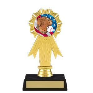 trophy-rosette ribbon-baseball