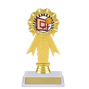 trophy-rosette ribbon-basketball