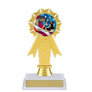 trophy-rosette ribbon-hockey