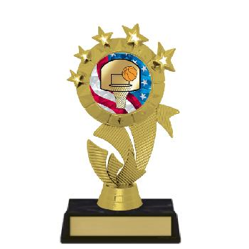 trophy-star ribbon II-basketball