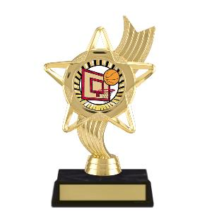trophy-star ribbon-basketball