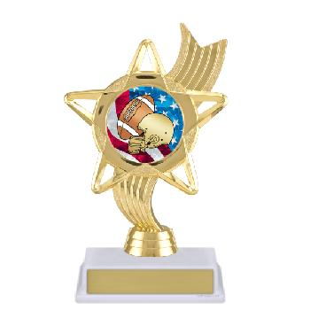 trophy-star ribbon-football