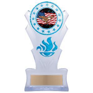 trophy-star torch stand-eagle theme