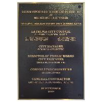 plaque-bronze casting