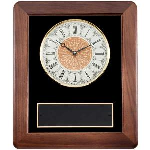 plaque-classical walnut clock II