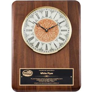 plaque-classical walnut clock